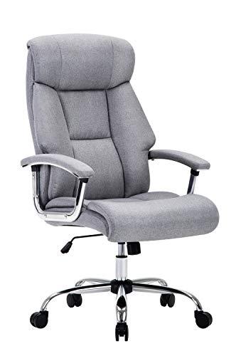 Amoiu Bürostuhl, ergonomischer Schreibtischstuhl Chefsessel mit gepolsterten Armlehnen und Kopfunterstützung,Höheverstellbar 360°Bürodrehstuhl Kunstleder Drehstuhl