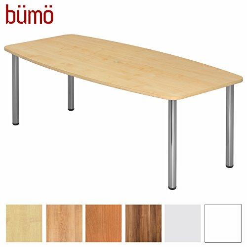 Bümö® Konferenztisch rund oval GRÖSSE in DEKOR | Besprechungstisch mit VARIANTE | hochwertiger Meetingtisch