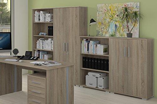 Büromöbel Set 8 Teile in Sonoma Eiche Dekor, Arbeitszimmer, Möbel, Büroeinrichtung