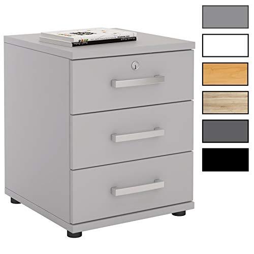 CARO-Möbel Bürocontainer Schreibtischcontainer Büroschrank Toronto, 6 Moderne Farben, abschließbar mit 3 Schubladen, 44 x 58 x 45 cm