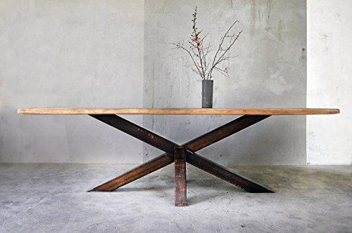 Esstisch aus Bauholz & Eisen Erika 280 x 100cm