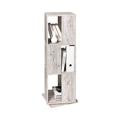 FMD Turm schwenkbar 3-Tier-Aufbewahrung, Holz