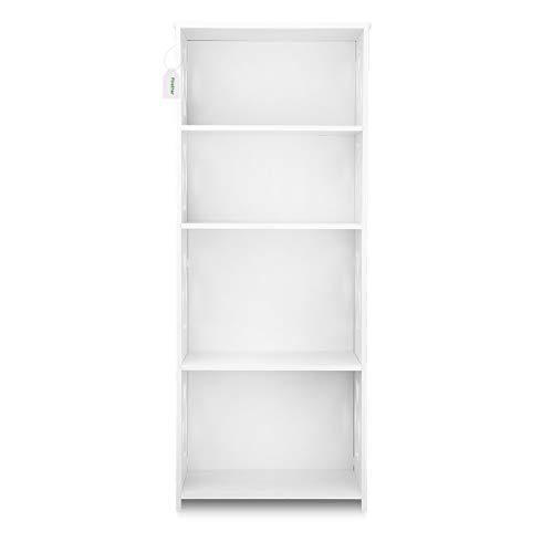 Finether weißes Regal Stehregal Standregal Steckregal Schuhregal Bücherregal für Wohnzimmer Badezimmer zur Aufbewahrung von Bücher Schuhe Toilettenartikel aus WPC wasserdicht