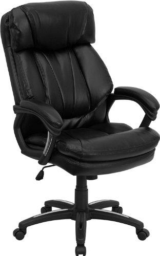 Flash Möbel go-1097-bk-lea-gg Hercules Serie High Back schwarz Leder Executive Bürostuhl
