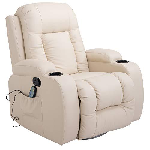 HOMCOM Massagesessel Fernsehsessel Relaxsessel TV Sessel Wärmefunktion mit Fernbedienung