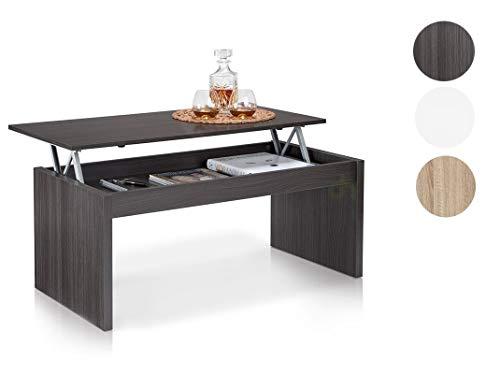 Habitdesign Höhenverstellbarer Couchtisch, Wohnzimmertisch, Maße: 102 x 50 x 43/52 cm Höhe