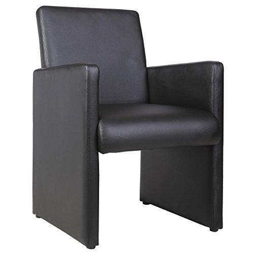 IDIMEX Cocktailsessel Esszimmerstuhl Besucherstuhl Tony, gepolstert in schwarz
