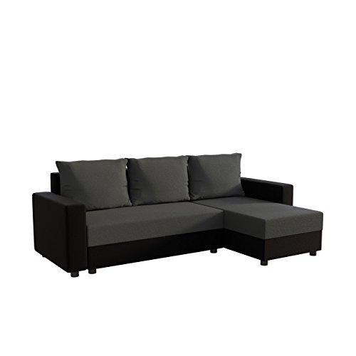 Mirjan24 Ecksofa Vibo! Eckcouch Sofa mit Bettkasten und Schlaffunktion! L-Form Couch, Ottomane Universal, Farbauswahl, Schlafsofa vom Hersteller