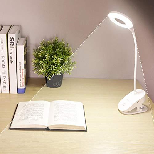 Murieo LED Schreibtischlampe, Schreibtischlampe LED Büro Tischleuchte,Tisch Nachttischlampen,Augenschutz lernen Schreibtischlampe USB Lade Clip Tischleuchte,3 Helligkeitsstufen dimmbar Touchbedienung