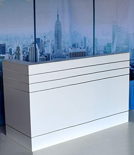Neue Empfangstheke Empfangstresen, 180cm x 70 cm Rezeption Empfang Verkaufstheke Bürotheke Messetheke Infotheke