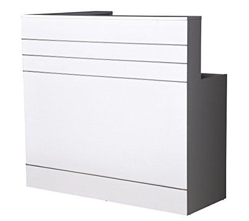 Neue Empfangstheke Empfangstresen weiss, 120cm x 70 cm Rezeption Empfang Verkaufstheke Bürotheke Messetheke Infotheke