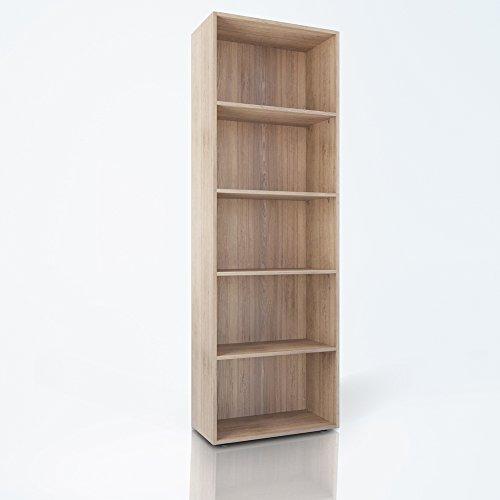 OSKAR Bücherregal 5 Fächer Regal Standregal Aktenregal Aktenschrank