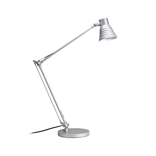 Paulmann 770.25 table&desk Sara Schreibtischleuchte max1x60W E14 Metall silber 77025 moderne Tischlampe Tischleuchte Leselampe Büro