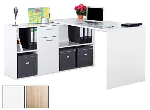 RICOO Winkelbarer Schreibtisch mit Vielseitiger Anschlagmöglichkeit   WM081