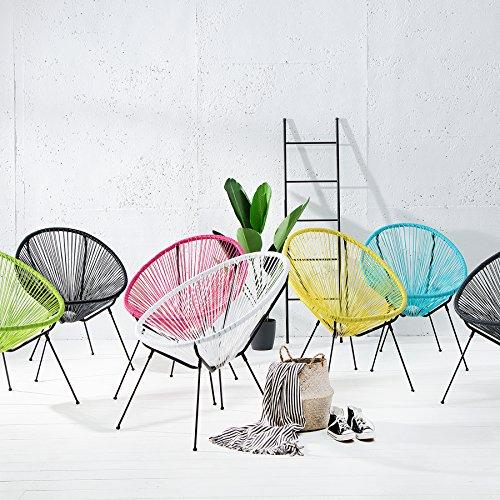 Riess Ambiente Moderner Stuhl Acapulco Sessel Farbwahl Gartenstuhl Wetterfest Outdoorstuhl