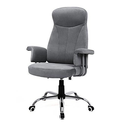 SONGMICS Bürostuhl Relaxstuhl mit Verstellbarer Rückenlehne Samtbezug OBG41