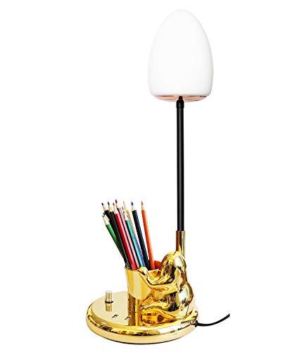 Schreibtischlampe,Büro Tischleuchte Nachttischlampe mit 2 USB-Anschluss,Tischleuchte mit Niedlich Froschform für Schlafzimmer,Wohnzimmer,Arbeitszimmer,Beistelltisch