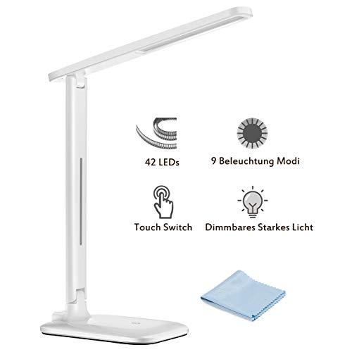 TOPELEK 42 LED Tischlampe Augenfreundliche Tischleuchte
