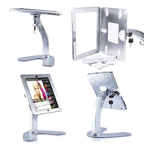 UrbanNerd Abschließbare Tischhalterung - Verkaufstheke Halterung für Apple-iPad-2-3-4-Air-Air 2 Halter Holder aus CNC Metall