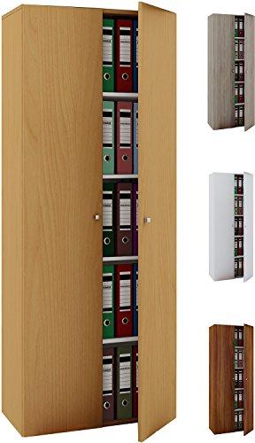 VCM Büroschrank Aktenschrank Bücherregal Standregal Aktenregal Schrank Regal Vandol