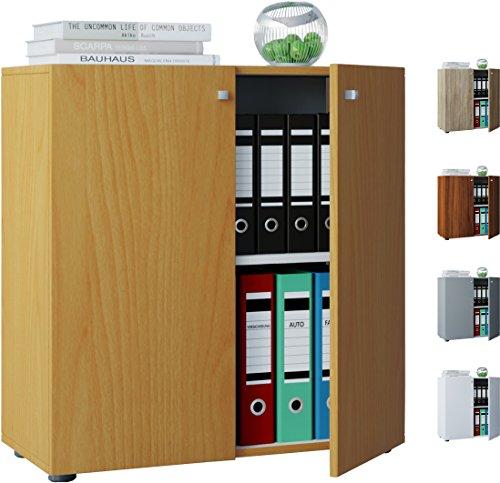 VCM Büroschrank Aktenschrank Bücherregal Universal Schrank Regal Vandol Mini