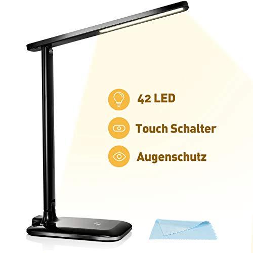 VICTSING 42 LED Schreibtischlampe Tageslicht, dimmbare LED Tischlampe mit 3 Beleuchtungsmodi und 3 Helligkeitsstufe