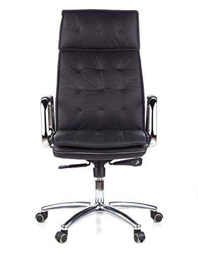 hjh OFFICE Bürostuhl/Chefsessel Villa 10 Nappaleder