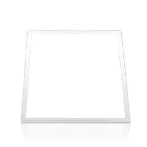 LED Panel 62x62 neutralweiß Deckenleuchte 4000K PMMA Einbaupanel 40W Büro Deckenlampe Rasterleuchte Einbauleuchte PLe2.1 (ohne Montagematerial)