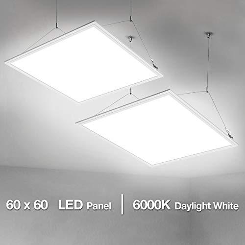 Lighting EVER LE LED Panel Panelleuchte mit Befestigungsmaterial und Trafo Panellampen, LED Deckenleuchte, Pendelleuchten