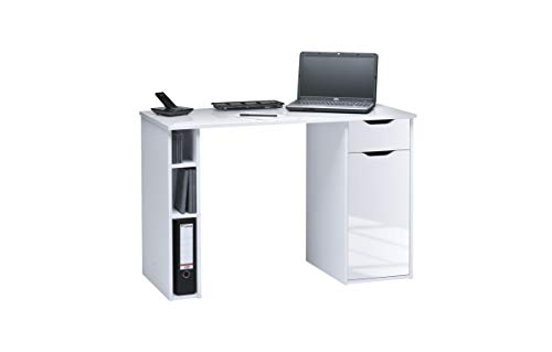 Maja Möbel Schreib-und Computertisch Hochglanz-ICY-weiß, Abmessungen BxHxT: 115 x 75 x 50 cm, Holz 115x50x75 cm