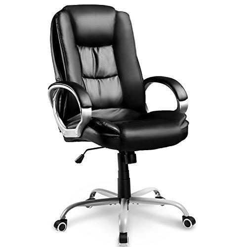 Merax Chefsessel Bürostuhl Schreibtischstuhl Bürodrehstuhl Bürosessel Ergonomisches Design Gamingstuhl Bürostuhl Sportsitz Drehstuhl Chefsessel