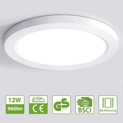 Oeegoo Ultraslim LED Deckenlampe Rund 6W 12W 18W 24W Geeignet für Schlafzimmer Wohnzimmer Flurleuchte Kinderzimmern Küche Flur Veranda Terrasse