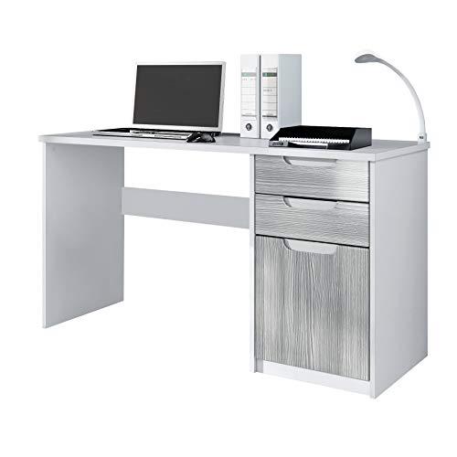 Vladon Schreibtisch Logan Weiß