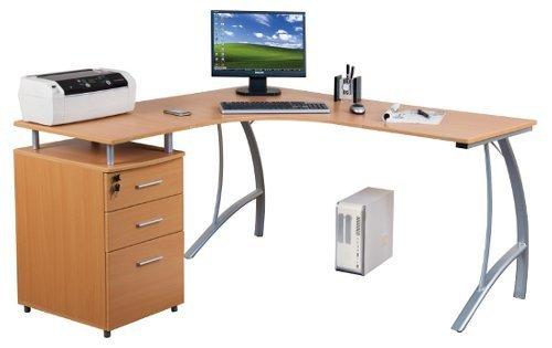 hjh OFFICE Eckschreibtisch Castor mit Stand-Container