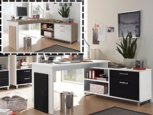 möbelando Winkelschreibtisch Schreibtisch Büroschreibtisch Eckschreibtisch Margate I