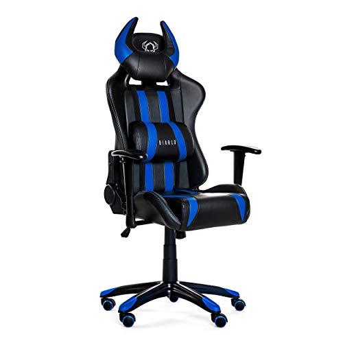 Diablo X-One Horn Gaming Stuhl Bürostuhl Wippfunktion verstellbare Armlehnen Lendenkissen Kopfstütze Kunstleder versch. Farben