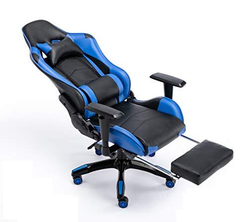 FAYEAN Ergonomischer Gaming-Stuhl mit Drehgelenk, PU-Leder