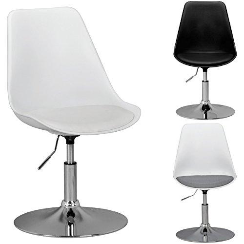 FineBuy HAINAN | Drehsessel mit Stoff-Sitzfläche | Drehstuhl ist höhenverstellbar | Drehhocker mit Rückenlehne | Besucherstuhl mit Schalensitz