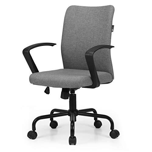 Hbada Bürostuhl Leichter Drehstuhl Schreibtischstuhl Konferenzstuhl Besucherstuhl platzsparender Stuhl Leinen Höhenverstellung Wippmechanik