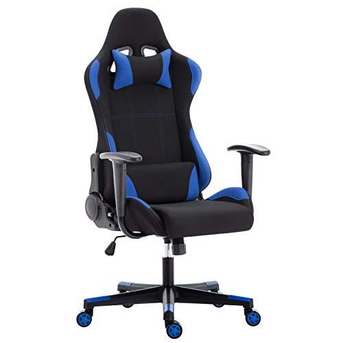 IntimaTe WM Heart Gaming Stuhl, Racing Bürostuhl Computerstuhl Ergonomischer Stoff Hoch Rücken Liegestühle Drehstuhl