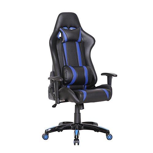 SVITA Racing Bürostuhl Chefsessel Gaming-Stuhl Racer-Stuhl Schreibtischstuhl mit Armlehnen - Leder-Optik - Farbwahl