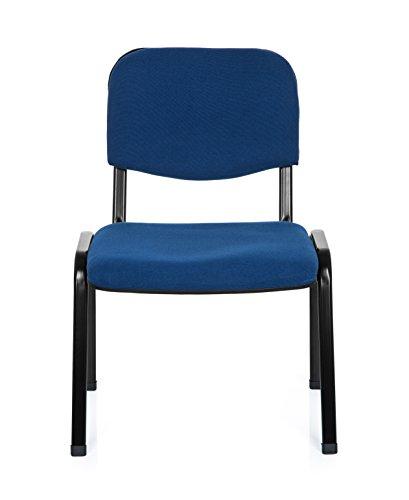 hjh OFFICE Konferenzstuhl Besucherstuhl XT 600 XL Stoff, Extra Breite Sitzfläche, ergonomischer Vierfußstuhl, Rückenlehne, stapelbar, bis 150 Kg
