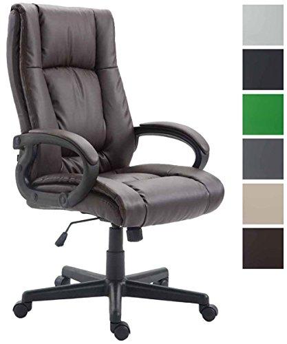 CLP Bürostuhl XL Sparta mit Kunstlederbezug I Chefsessel mit Wippmechanismus I Drehstuhl mit Armlehnen l Max. Belastbarkeit 140 kg I erhältlich