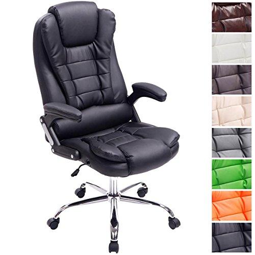 CLP XXL Chefsessel Thor, max. belastbar bis 150 kg, Bürostuhl mit Armlehnen, höhenverstellbar 49-59 cm, Drehstuhl mit dickem Polster