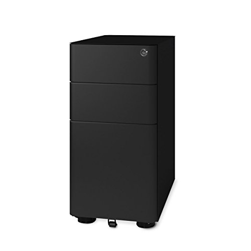 DEVAISE Mini Round Edge 3-Drawer Metal Filing Cabinet