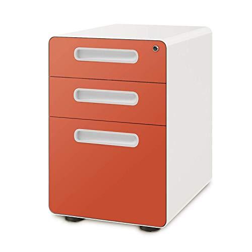 Devaise Aktenschrank mit 3 Schubladen, mit Kippmechanismus, Legal-/Briefgröße
