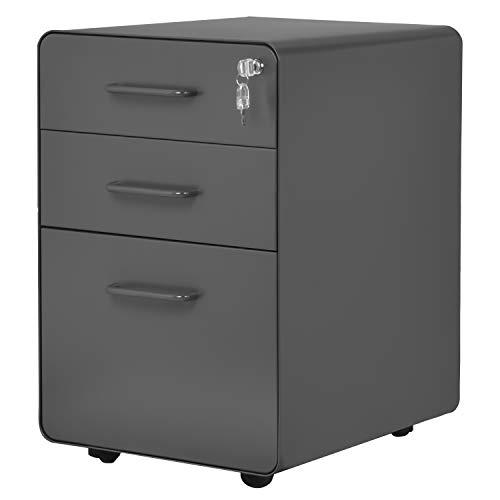 Flieks tragbare Stahl Kabinett, Rolling Kabinett mit abschließbaren Schubladen, stationäre Rack, Rollen, für Hause & Büro voll montiert