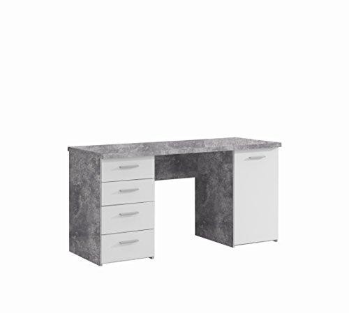 Forte Schreibtisch mit 4 Schubkästen und 1 Tür