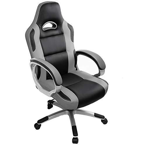 IWMH Bürostuhl, Ergonomischer Drehstuhl, Computerstuhl mit Hoher Rückenlehne, Sitzhöhenverstellung Chefsessel, Schreibtischstuhl aus Kunstleder