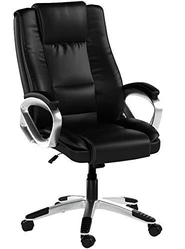 IntimaTe WM Heart Chefsessel, Bürostuhl mit Hoher Rückenlehne, Kunstleder Schreibtischstuhl high Back Drehstuhl mit Armlehnen,